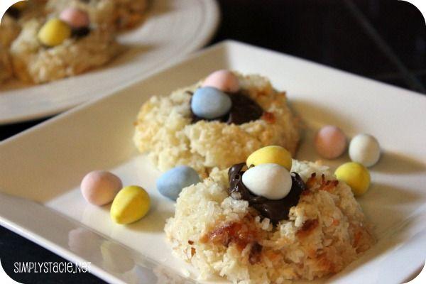 Coconut Macaroon Nutella Cookie Nests | Recipe