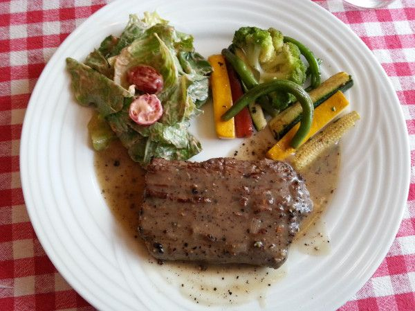Beef Steak with bloody mary tomato salad | Deliciousness | Pinterest