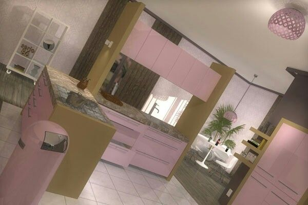 Light pink kitchen  Pink kitchens  Pinterest