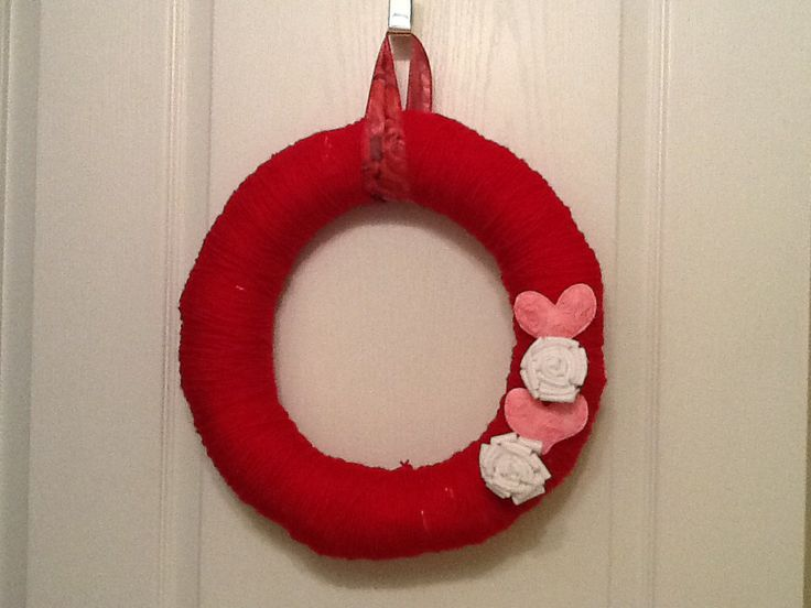 valentine's day yarn crafts