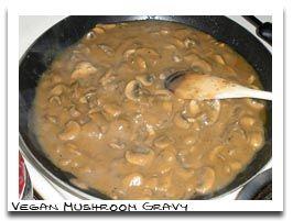 Mushroom Gravy:: 2C chopped sweet onion (1 medium onion), 3 garlic ...