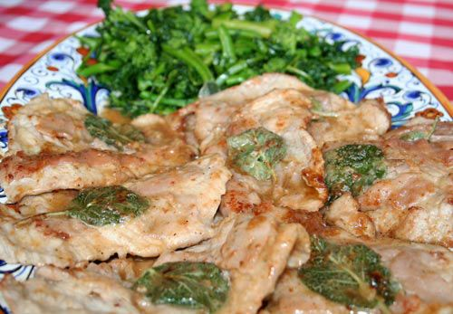 Veal Scaloppine With Prosciutto And Sage Recipe — Dishmaps