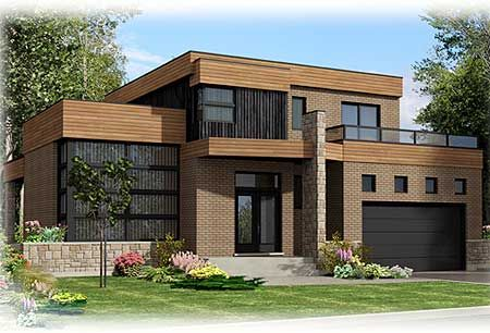 House plans and design modern house plans with roof deck for Modern house plans canada
