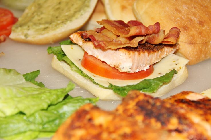 Salmon BLT Sandwich; I love any thing BLT!