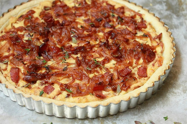 Bacon and Caramelized Onion Tart | Food Porn | Pinterest