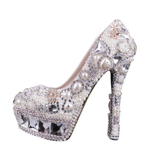 Crystal Pearl Rhinestone and Bridal,Bridesmaid,Proms Dress Shoes