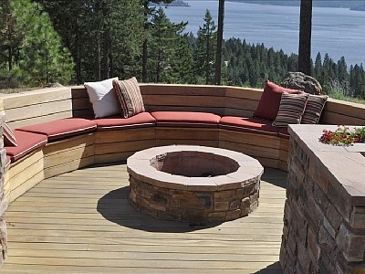 Fire Pit And Seating Area In Back Yard For The Home