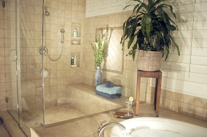 Plants in bathroom home sweet home pinterest for Small bathroom plants