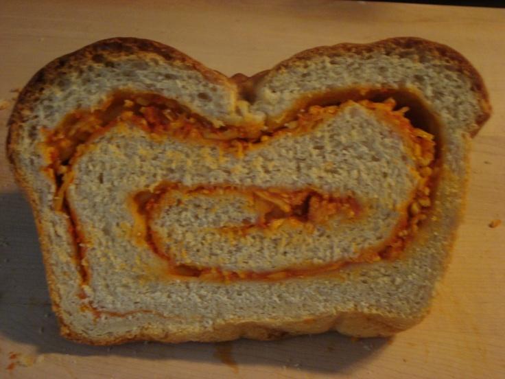 Sriracha Swirl Cheese Bread...YUM | Savory Dishes | Pinterest