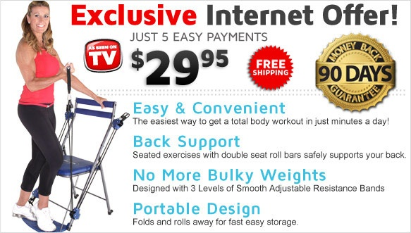 Chair Gym™ - Easy & Convenient Total Body Workout!