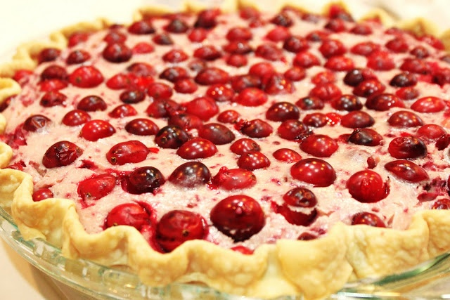 cranberry cheesecake pie | holiday recipes | Pinterest