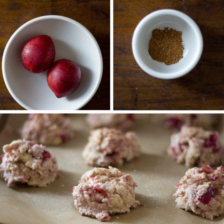 Plum cinnamon scones #recipe