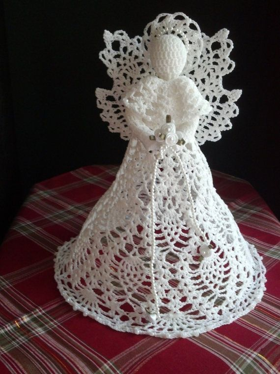 Crocheting Pinterest : Crochet Angel white by RitaKayCreations on Etsy, $65.00