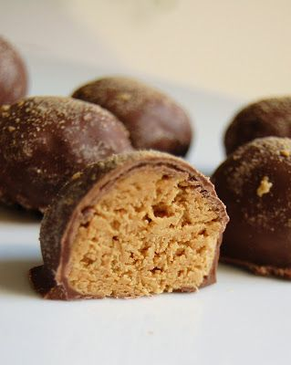 Peanut Butter Balls with Graham Cracker Crumbs. Made these tonight ...