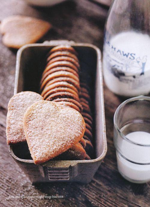 dustjacketattic: date & cinnamon sugar snap biscuits | donna hay