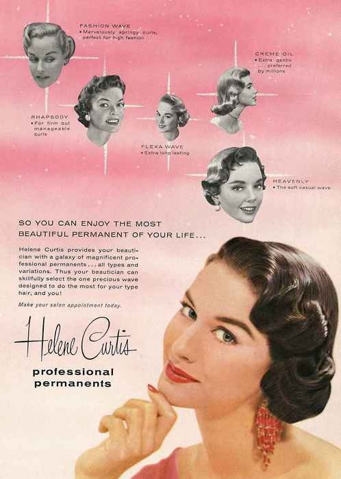 Trend perm in 1950 for 1950 beauty salon