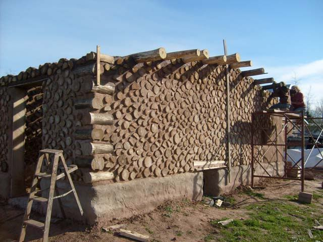 Pin by jenny erin steele staats on alternative building for Cordwood house foundation