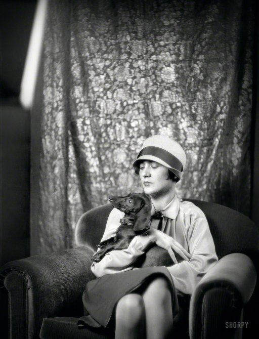 """October 18, 1926. """"Goldbeck, Walter, Mrs., with dog. 1 West 66th Street, New York City."""""""