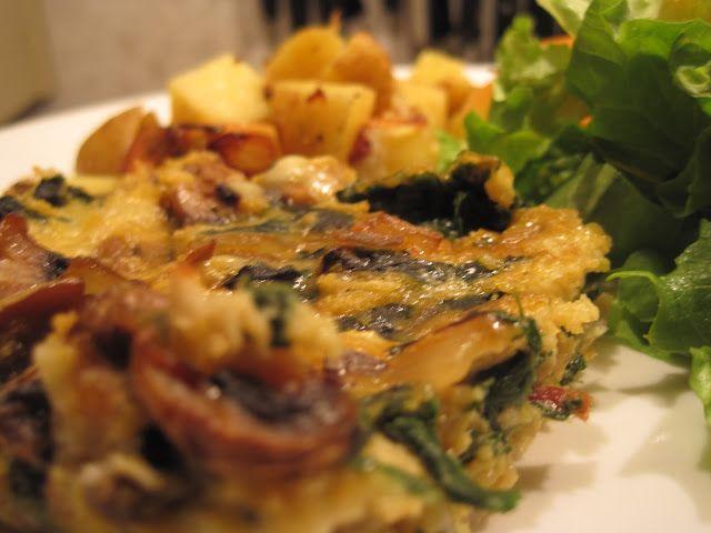 Baked Swiss Chard and Mushroom Squares | 3.1 Veggies | Pinterest