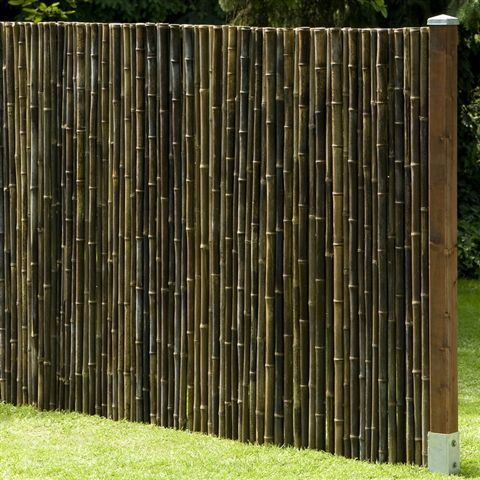 Privacy screen black bamboo garden fencing wind for Outdoor bamboo privacy screen