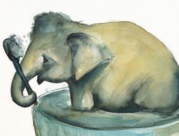 Scrub a dub you dirty elephant