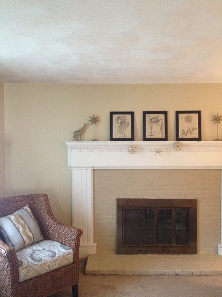 Painted Brick Fireplace Surround Portfolio Pinterest