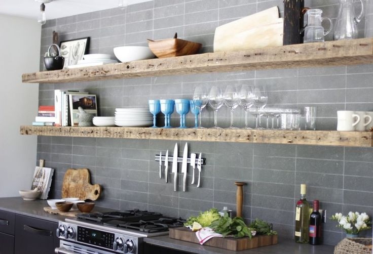 Top 10 Tips For Open Kitchen Shelves ELEMENTS AT HOME