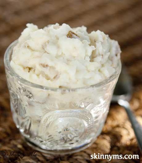 Skinny Slow Cooker – Garlic Mashed Potatoes