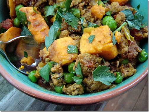 Curried ground turkey and sweet potatoes | Meals | Pinterest