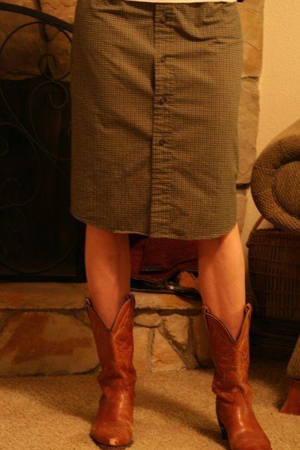 Men's Button Down Shirt into a Pencil Skirt Tutorial...via Recycled Lovlies
