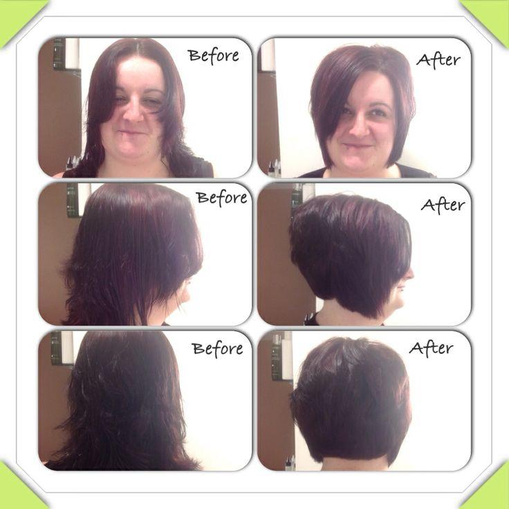 Shoulder Length Hair Into A Graduated Layered Bob Hair By