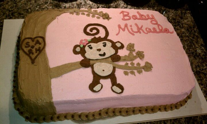Baby shower cakes monkey baby shower cake sayings - Baby shower monkey theme cakes ...