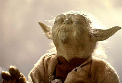 And well you should not. For my ally in the Force. And a powerful ally it is. Life creates it, makes it grow. It's energy surrounds us and binds us. Luminous beings are we...(Yoda pinches Luke's shoulder)...not this crude matter. (a sweeping gesture) You must feel the Force around you.