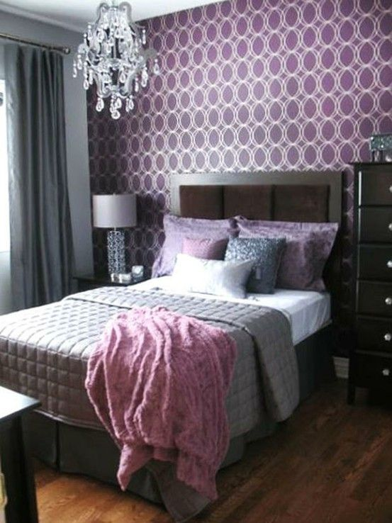 Purple And Silver Bedroom For The Home Pinterest