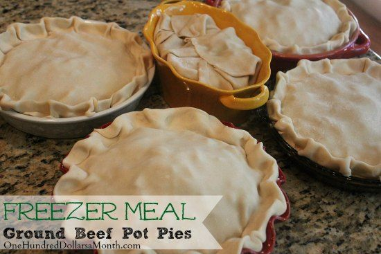 Freezer Meals – Ground Beef Pot Pie. Needing something simple for ...