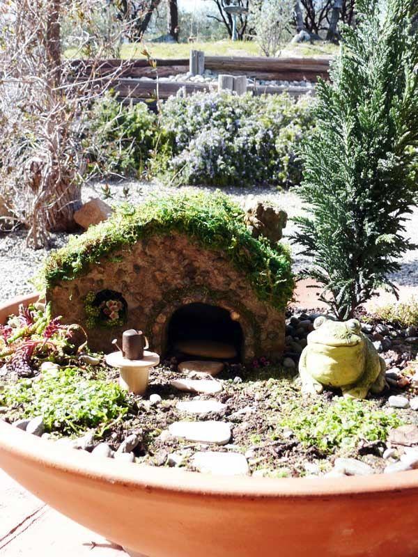 Toad container garden design miniatur miniature fairy gardens pin - Fairy garden containers ...