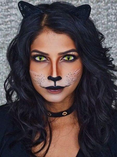 Cat face makeup