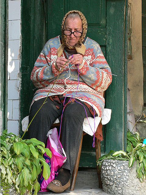 Old Lady Knitting Images : Old woman knitting eternal does not mean
