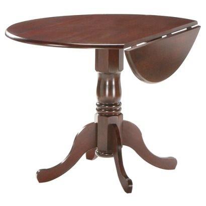 Round Drop Leaf Pedestal Table Natural 42