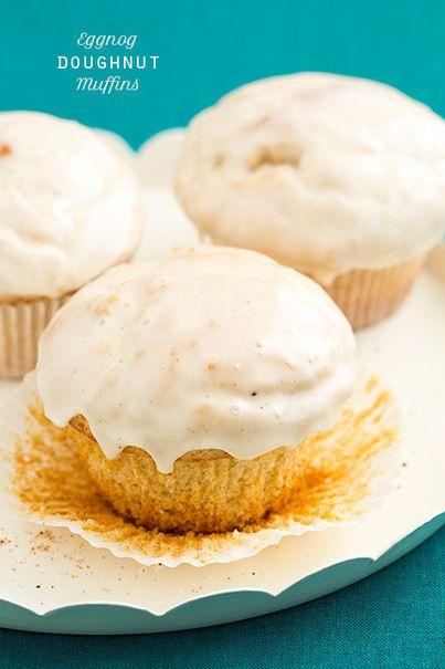 Eggnog Doughnut Muffins | food | Pinterest