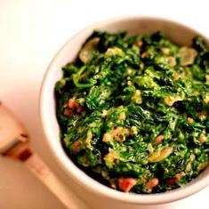 Creamed Spinach With Bacon   Foods to Make   Pinterest