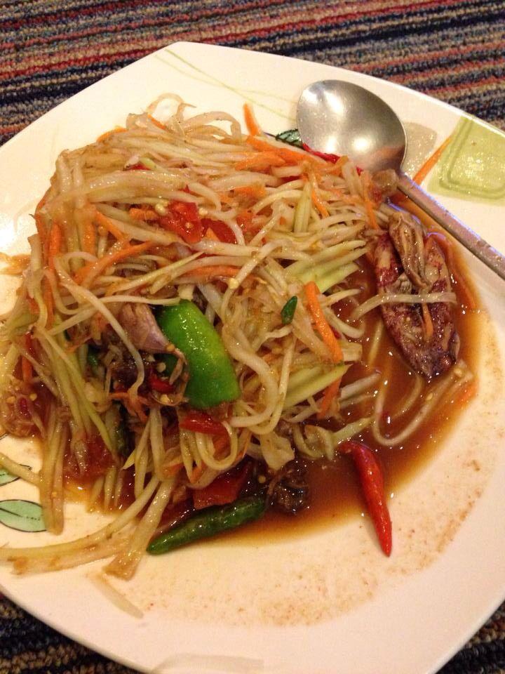 super spicy papaya salad thailand pinterest