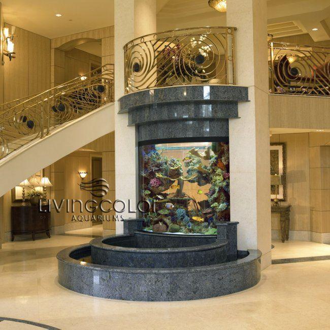 Custom Aquarium And Fountain Awsome Tanks And Fish