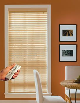 Radio Remote Control Wood Blinds Wonderful Home Ideas