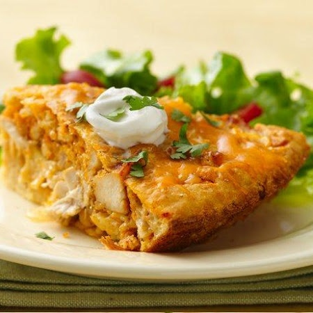 Impossibly Easy Chicken Taco Pie. HUGE hit at my house!! Delicious!!!