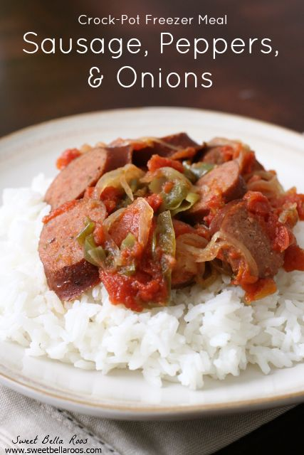 Sausage, Peppers, and Onions- easy weeknight meal, can be frozen ahead ...