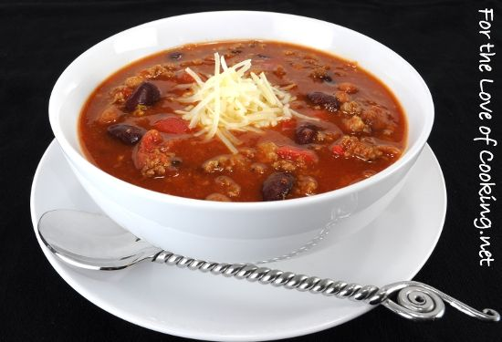 Italian style chili.... Because everything is better Italian style. I ...