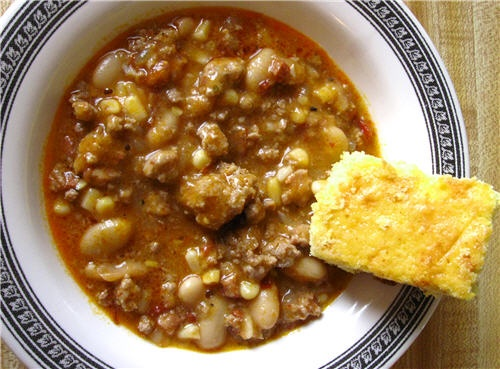 turkey chili with cheddar corn bread | Food! | Pinterest