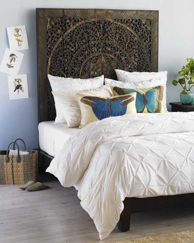 Unique headboard bedrooms pinterest for Cool headboards
