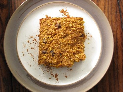 Pumpkin & Caramelized Banana Baked Oatmeal « Healthy Food For Living ...